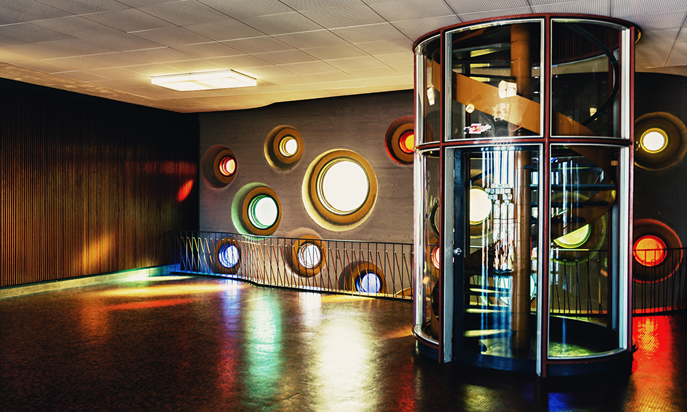 Lichtspiele im Hauptturm des TGBBZ1