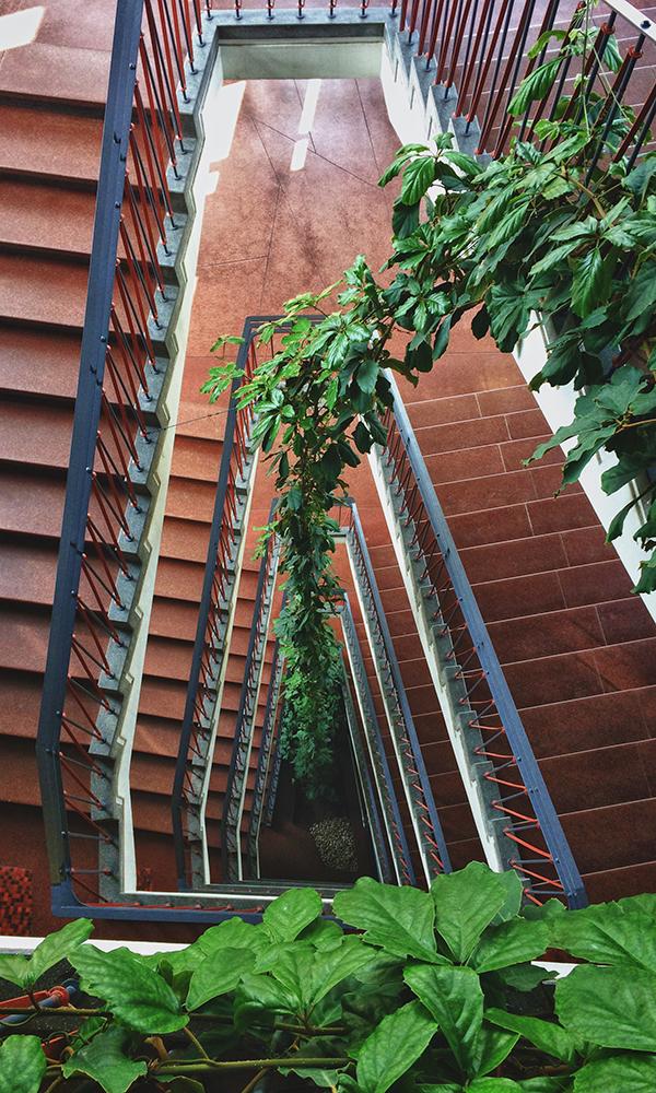 Treppenhaus im Schulturm